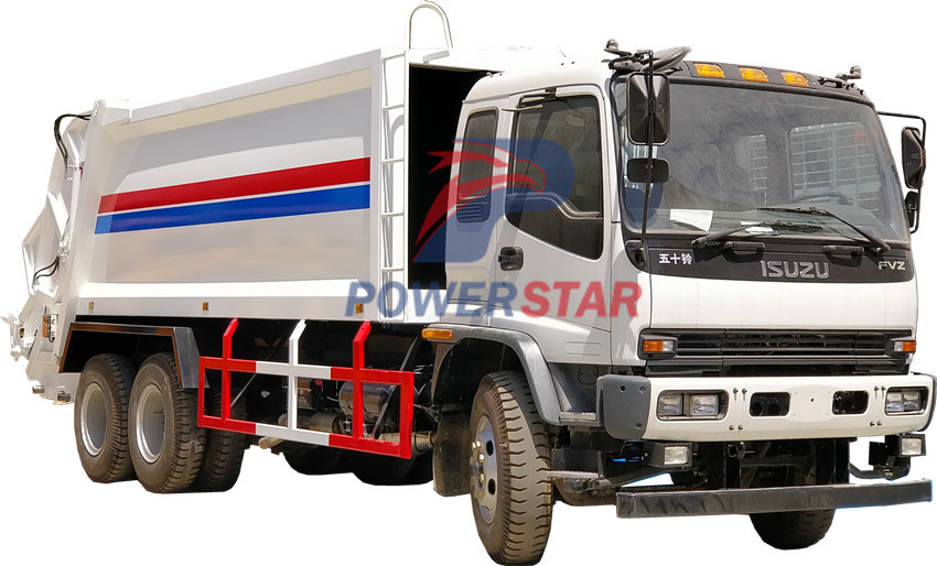 Japan Isuzu Garbage transport compactor truck