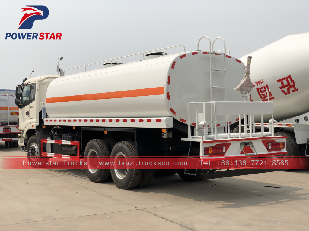 right hand drive FOTON ETX3233 20CBM Watering Spraying Tank trucks water bowser
