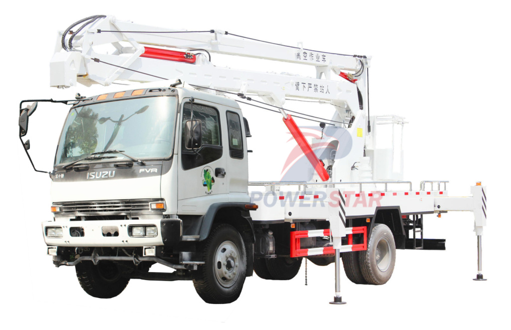 20M Hydraulic Folding Arm Aerial platform Truck with bucket ISUZU