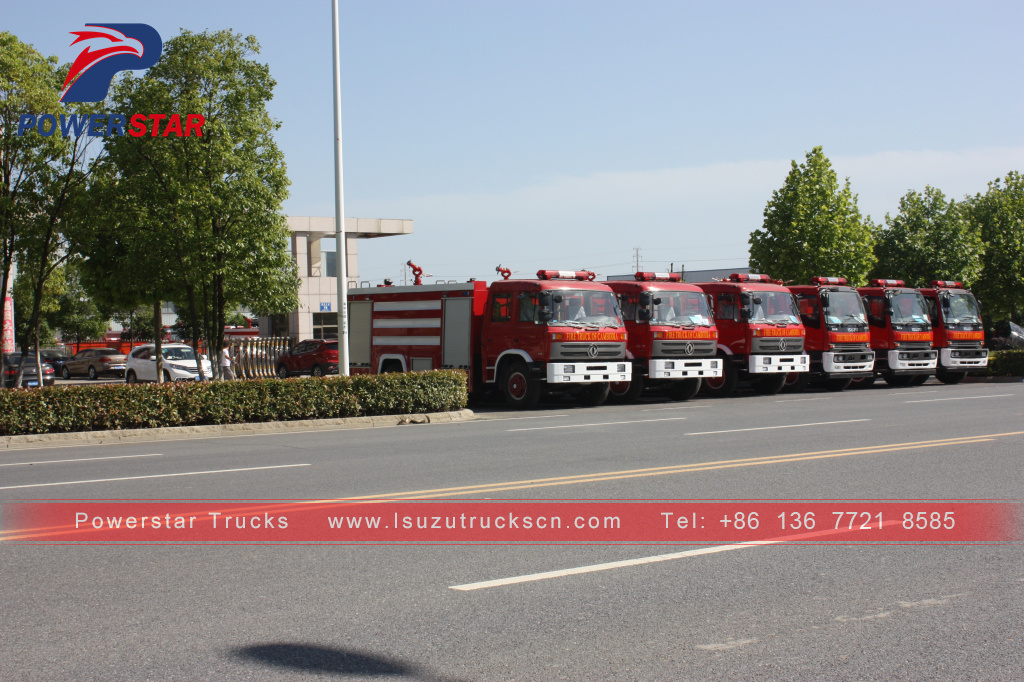 Cambodia ISUZU FTR FVR Water Foam Fire Truck Fire Engine