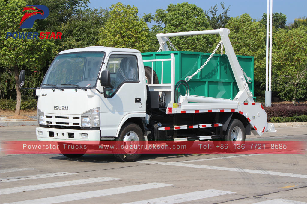 ISUZU skip loader truck swing arm vehicle
