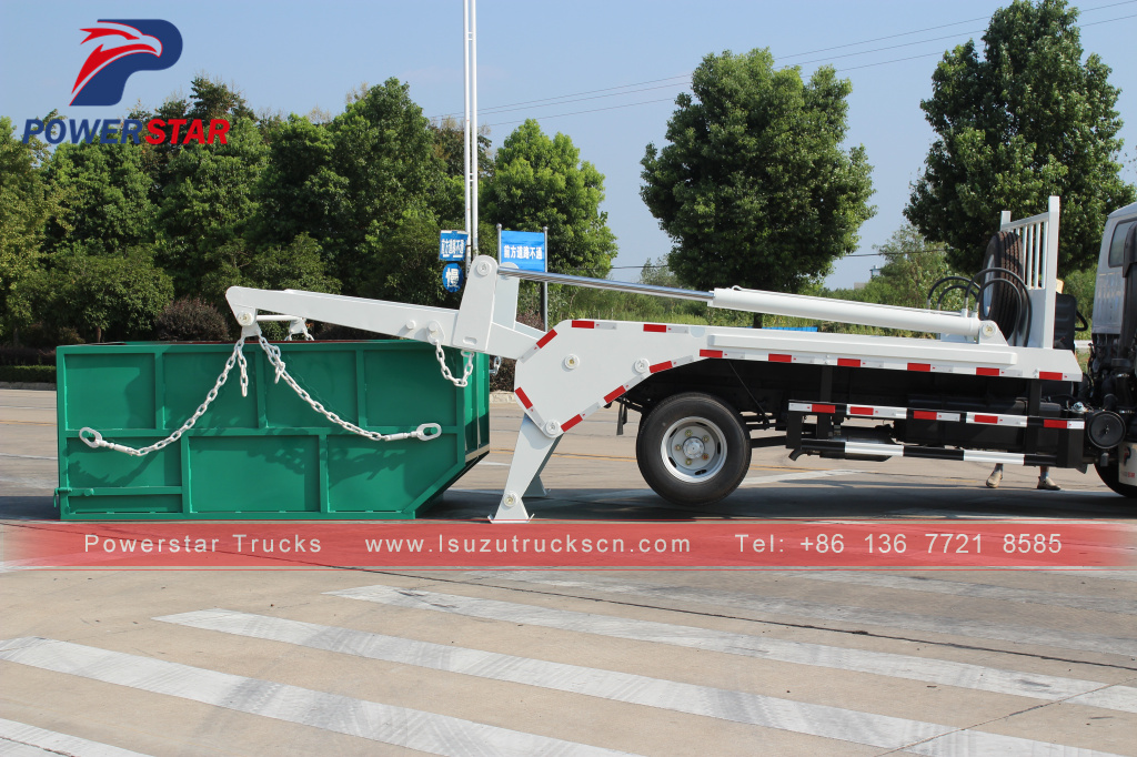 Philippines Mongolia Skip Loader Truck Isuzu Skip Bin Lifter for sale