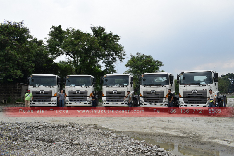 Japan Prime Mover HINO700 Heavy Tractor Trucks export Case Philippines