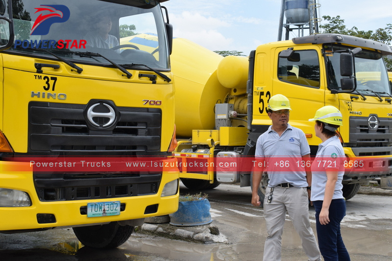 New HINO Chassis 8m3 concrete mixer truck for sale