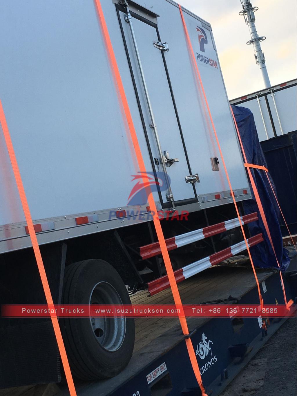 Isuzu brand refrigerator freezer truck/mini freezer box truck/seafood van truck for sale