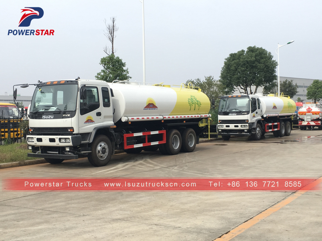 Mongolia ISUZU FVZ water delivery truck water spray bowser for sale