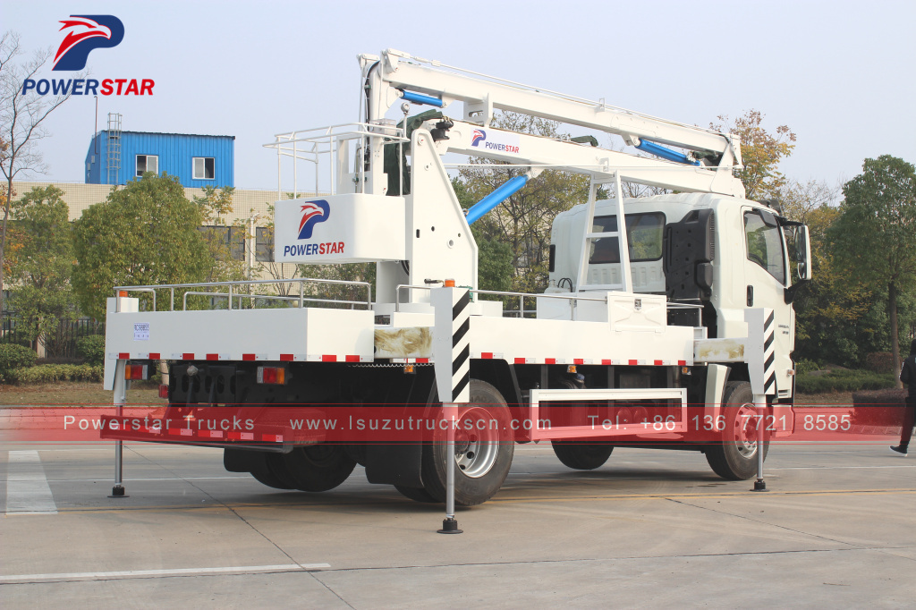 Japan ISUZU GIGA 16m 18m 20m Aerial Manlift Work Platform Trucks for sale