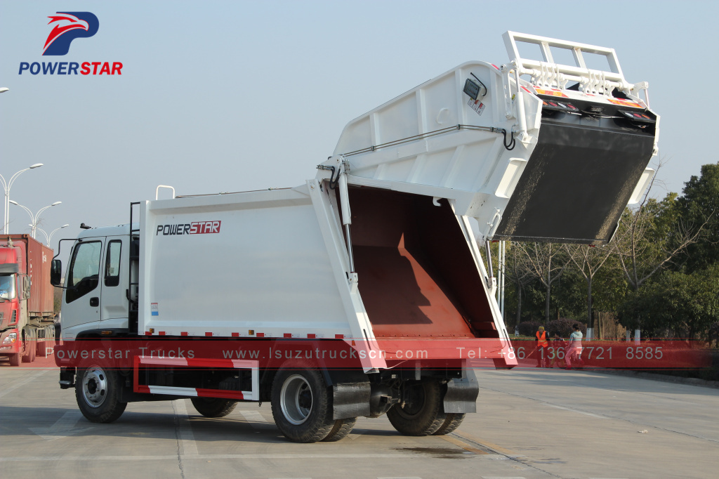 Powerstar ISUZU FVR Isuzu Garbage Vehicle Waste management Garbage Compactor Truck for philippines