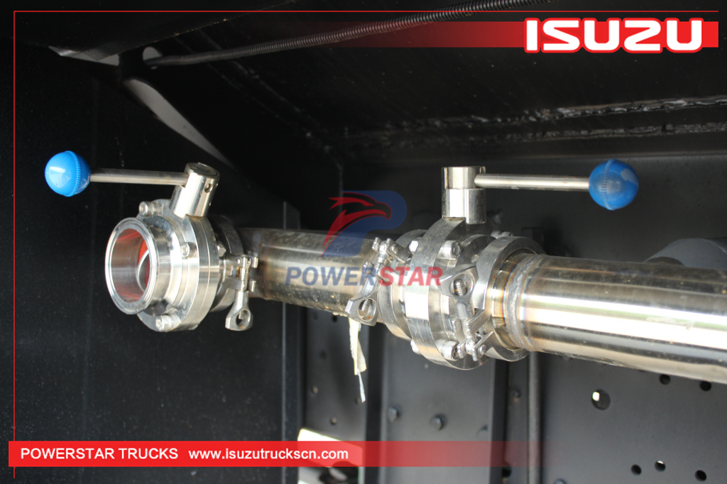 Custom stainless steel Isuzu Potable Water Service Tanker Trucks for sale