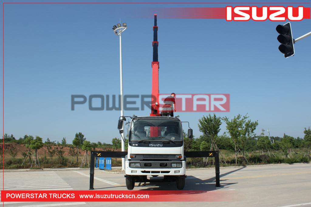 Philippines Custom Isuzu FTR Cargo Truck with Palfinger Telescopic Crane for sale