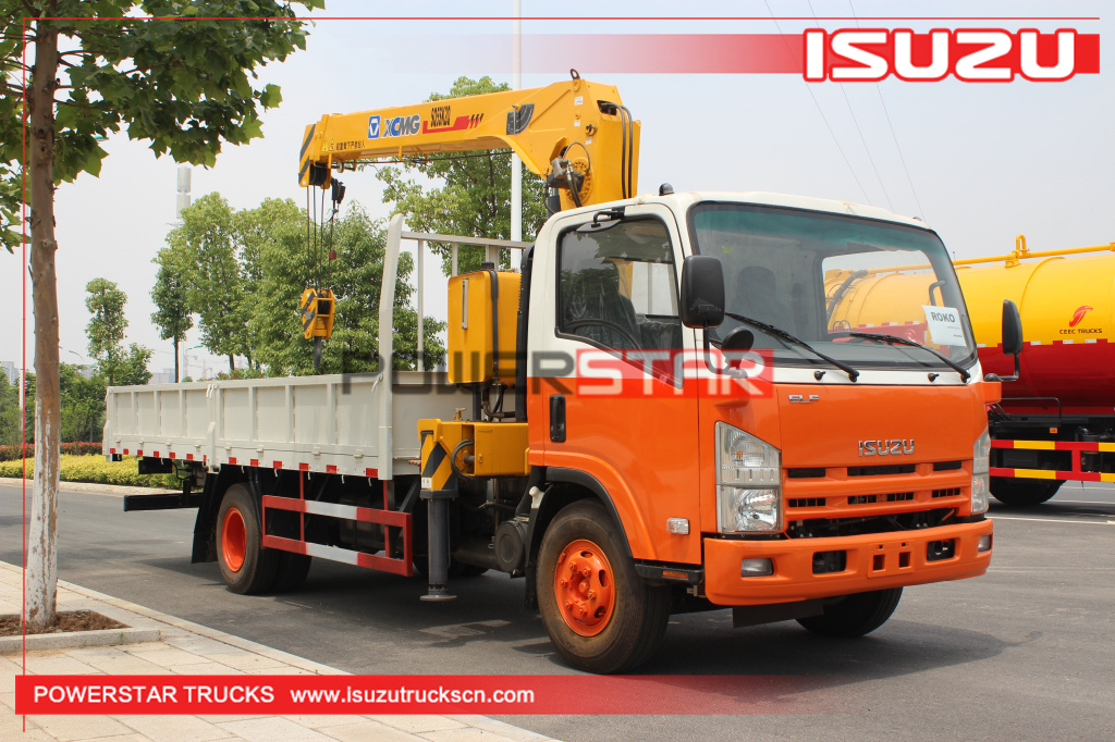 5ton Rwanda Isuzu Mobile Commercial Telescopic Boom Truck Mounted Crane for sale