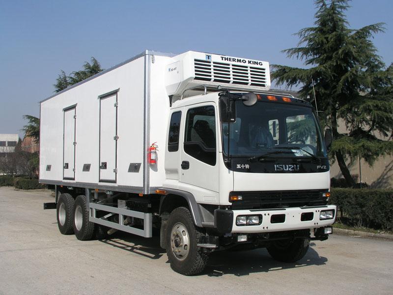ISUZU Refrigerator Truck with Carrier unit