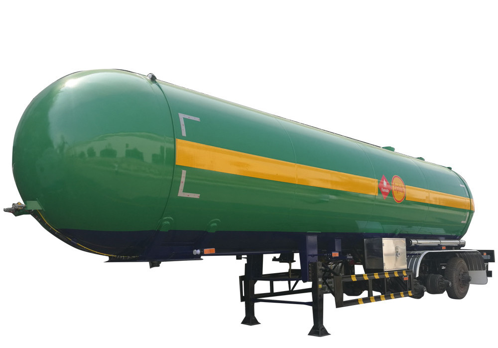 5,000L Liquefied Petroleum Gas Lorry Tank Semi Trailer with Axles for LPG