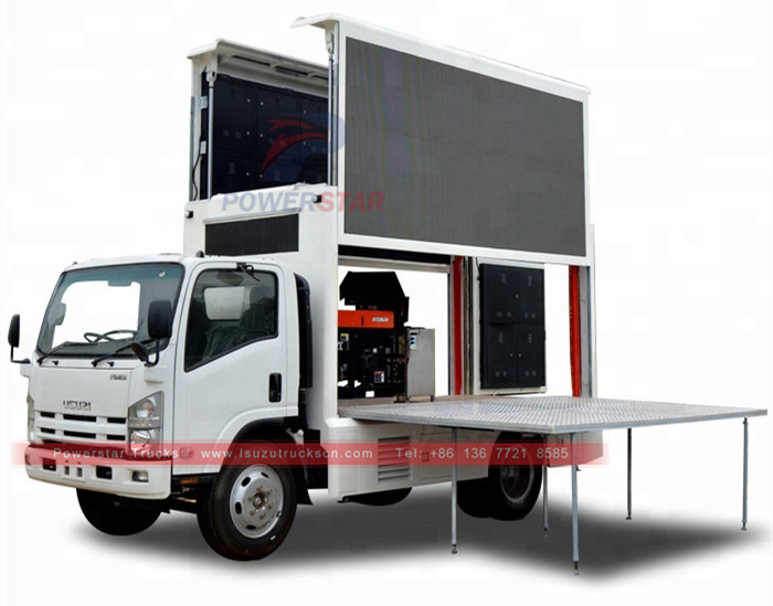 ISUZU ELF Mobile LED Screen outdoor advertising truck