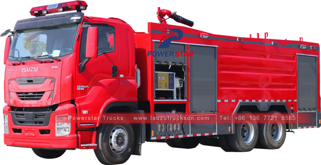Isuzu giga water foam fire fighting trucks for sale