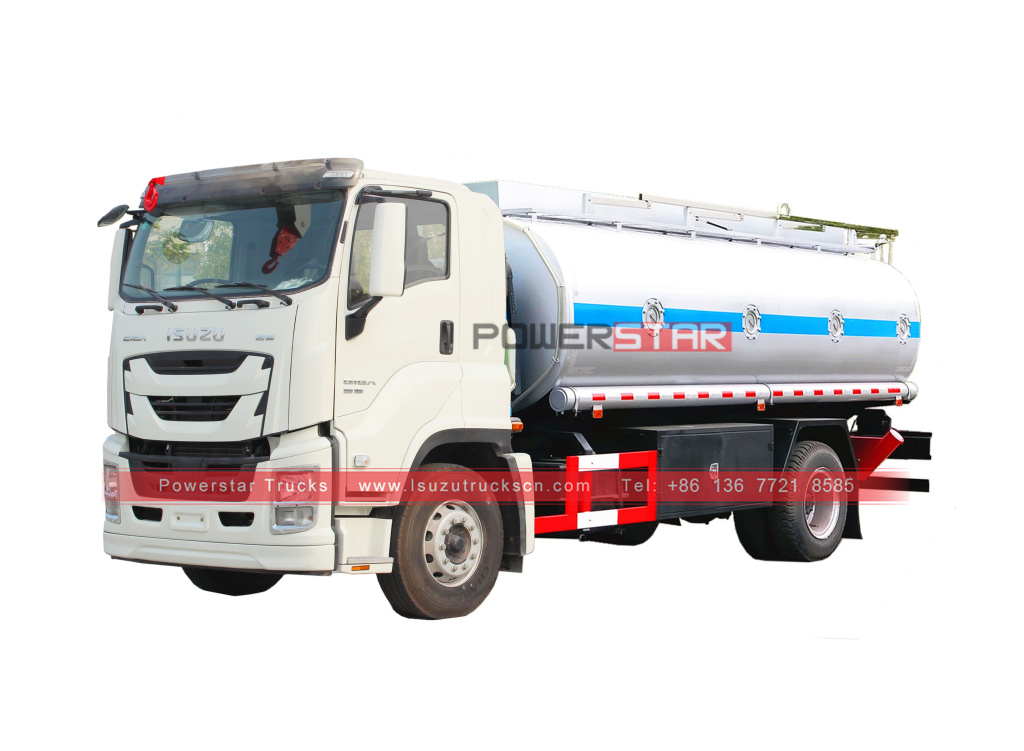 Isuzu giga fuel bowser oil tanker trucks for sale