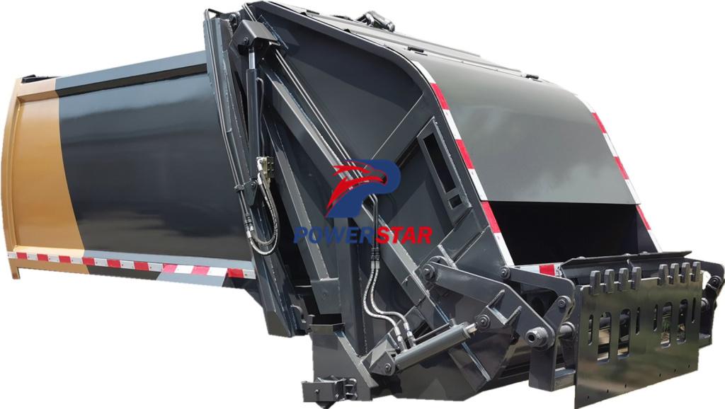Compression garbage truck body