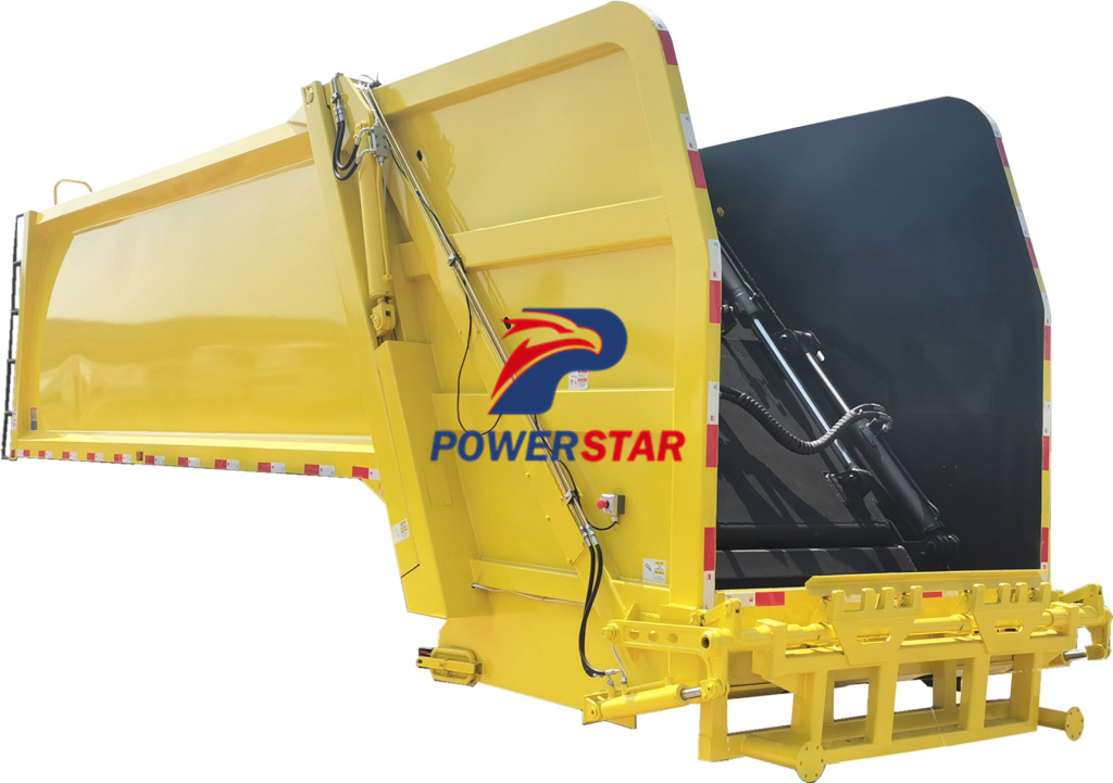 Refuse collection truck upper body