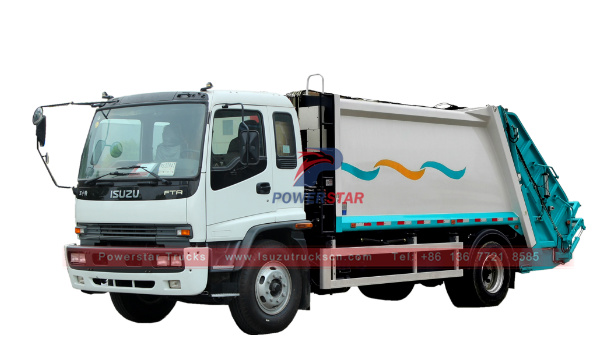 12cbm Isuzu Waste Compactor Vehicle FTR Rear Loader Garbage Truck
