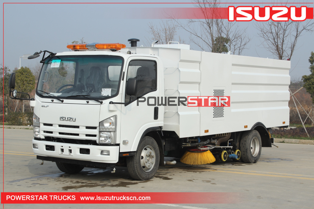 New ELF/700P Isuzu Vacuum Wet Type Road Sweeper Truck for sale