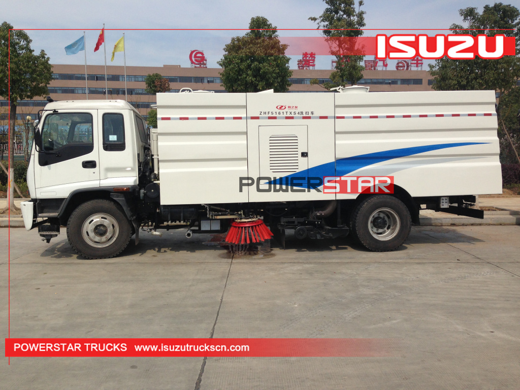 Airport high performance road sweeping truck Isuzu