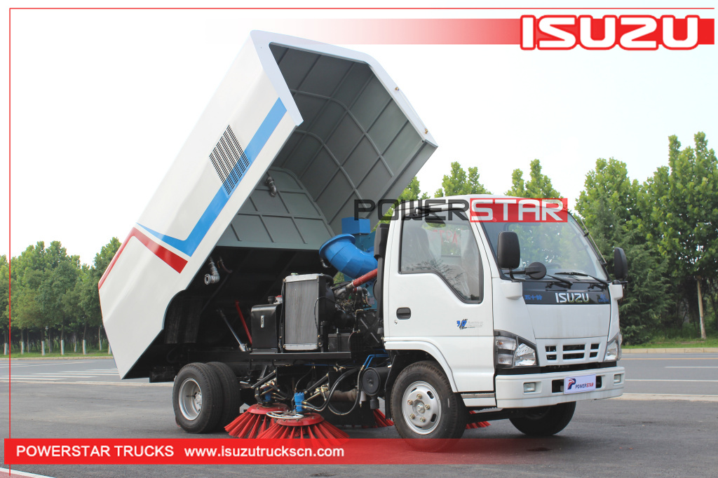 Cement plant road sweeper truck Isuzu