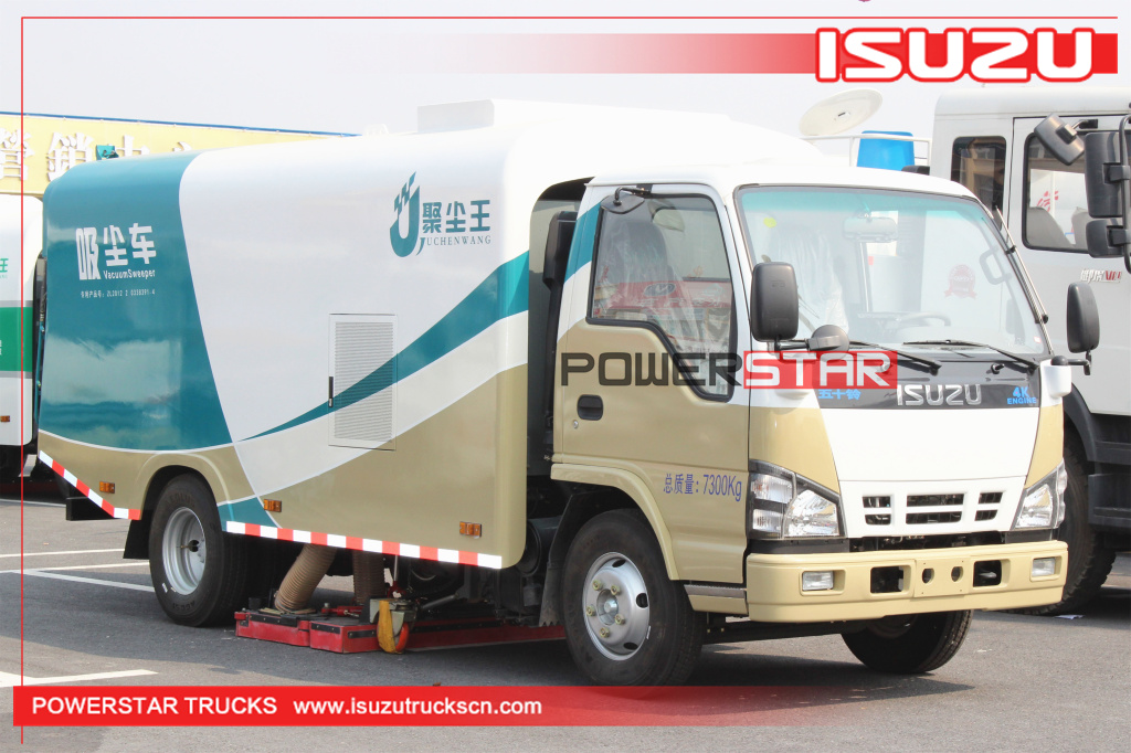 5m3 Pure Vacuum Suction Sweeper Isuzu Dirty suction Vehicle