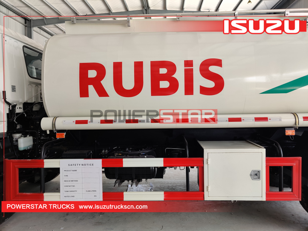 Customer made Isuzu FTR 15,000L Mobile Fuel Oil Delivery Tanker Truck