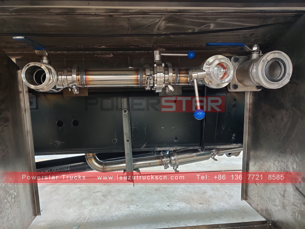 Philippines ISUZU Stainless Steel Drinking Water Truck 12m3 GIGA Potable Water Spray Trucks