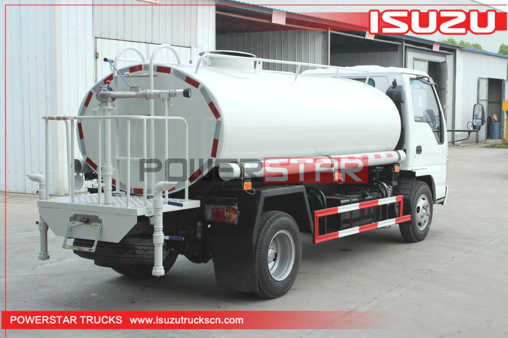 Factory Supply 4x2 ISUZU 3Tons Mobile 3,000L Drinking Water Transport Tanker Trucks