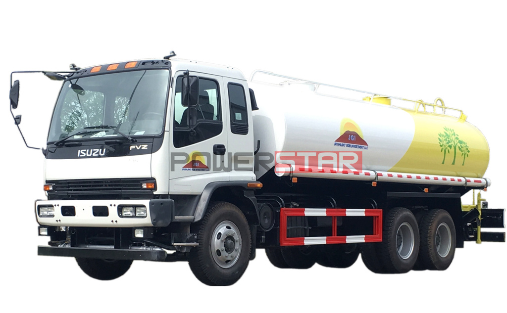 20cbm ISUZU 6X4 Stainless Steel Material Potable Water Delivery Truck