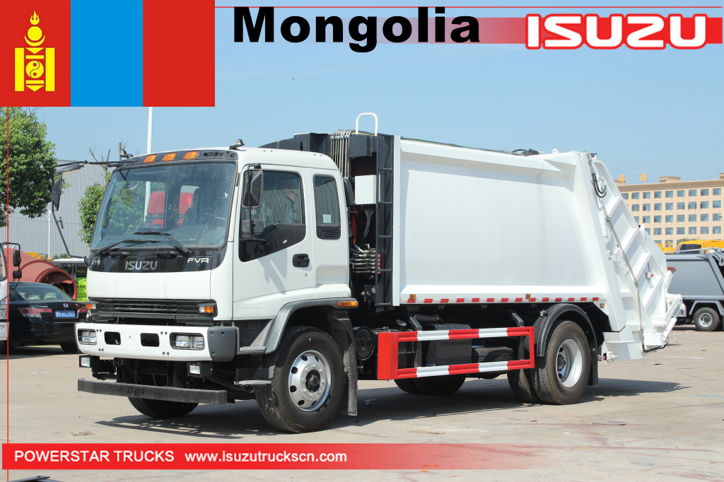 Isuzu 20 Cubic Meters Compression Garbage Refuse Collection Truck Waste Trash Compactor Rubbish
