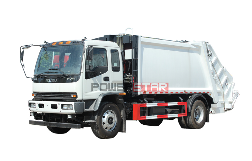 ISUZU FVR Barrel Tuning Waste Garbage Collection Compactor Truck