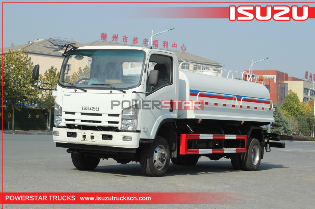Customized ISUZU ELF 4*4 4WD Road Sprinkler Water Tanker Trucks 8,000L~10,000L