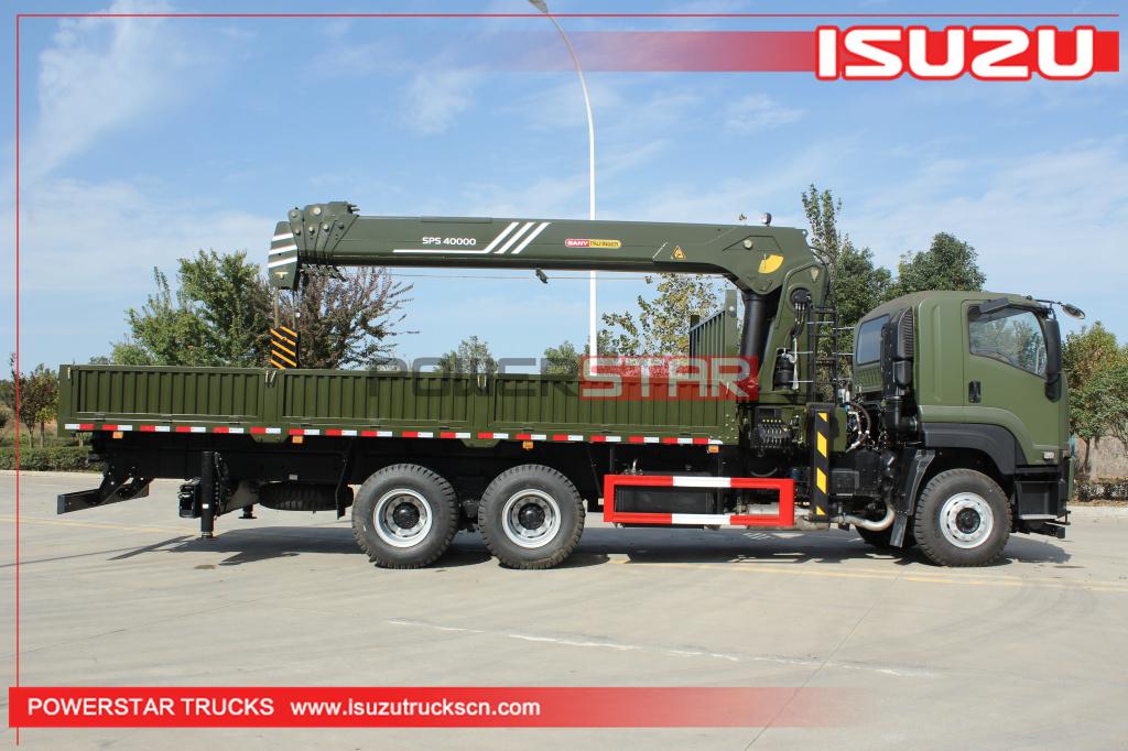 Philippines Military ISUZU vc46 GIGA Cargo Crane Truck with palfinger SPS40000 Loader Crane