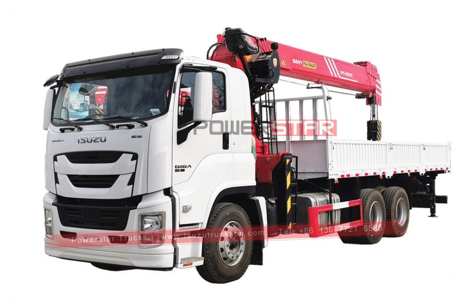 Philippines ISUZU GIGA/VC61 Dropside Cargo Truck mounted Palfinger SPS40000 boom crane