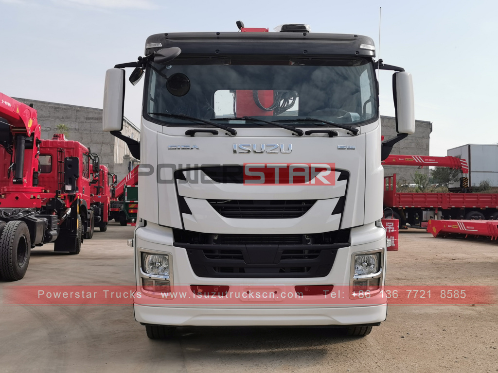 Authorized Distributor New ISUZU GIGA heavy Cargo Truck Mounted 16Tons Telescopic stiff Boom Crane Palfinger SPS40000