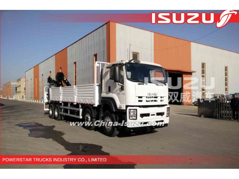 ISUZU Reliable / Efficient 16tons Straight Arm Truck Mounted Crane