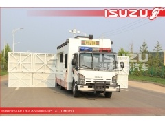 4x4,6x6 Isuzu Police Workshop Truck with guard for Emergency