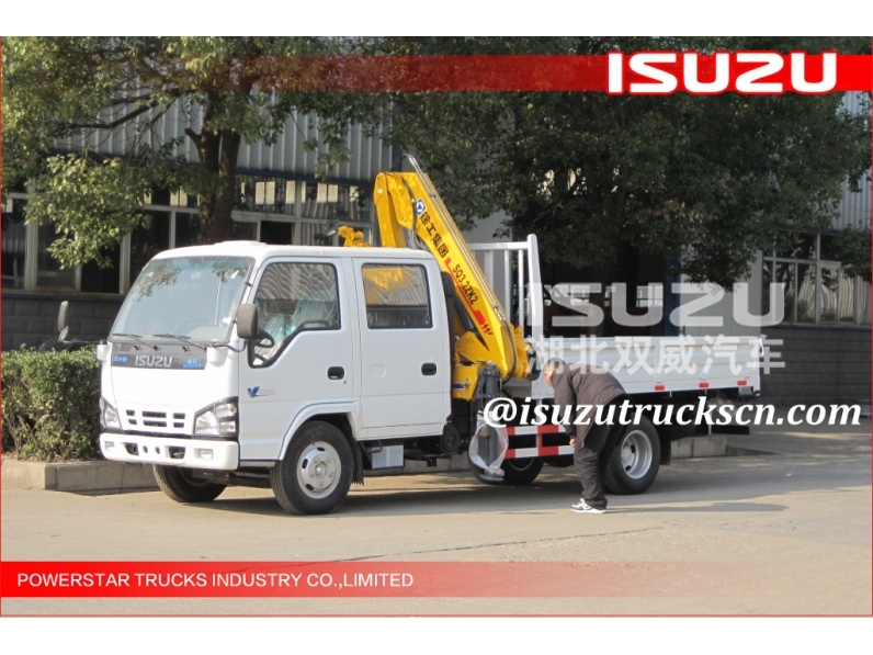 factory 3.2ton Isuzu Truck with Telescopic Boom Truck Crane