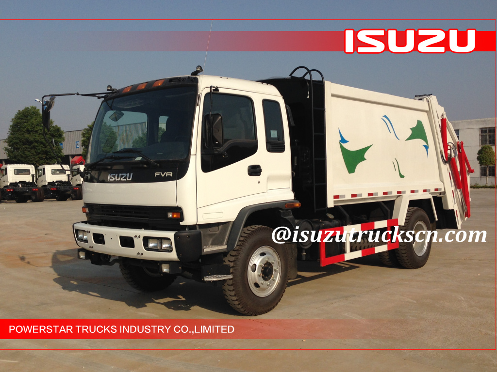Libya Custom Made 12cubic Fvr Japanese Isuzu Rubbish Compactor Fvz Wiring Diagram Vehicles