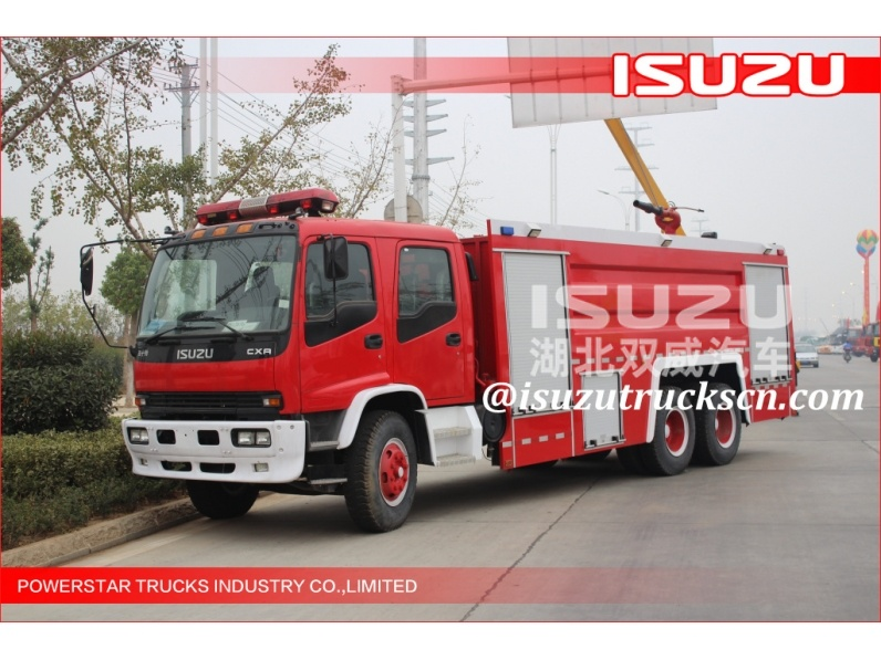 Japanese 6x4 Big Capacity 15000L Water Type Fire Truck for sale