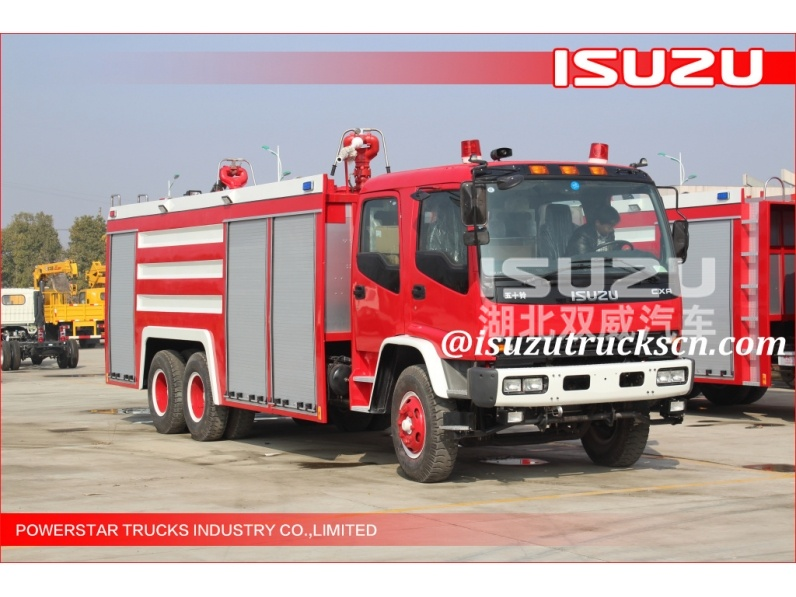 Factory direct sale 6*4 12000L Fire Truck Isuzu water foam Fire Vehicle