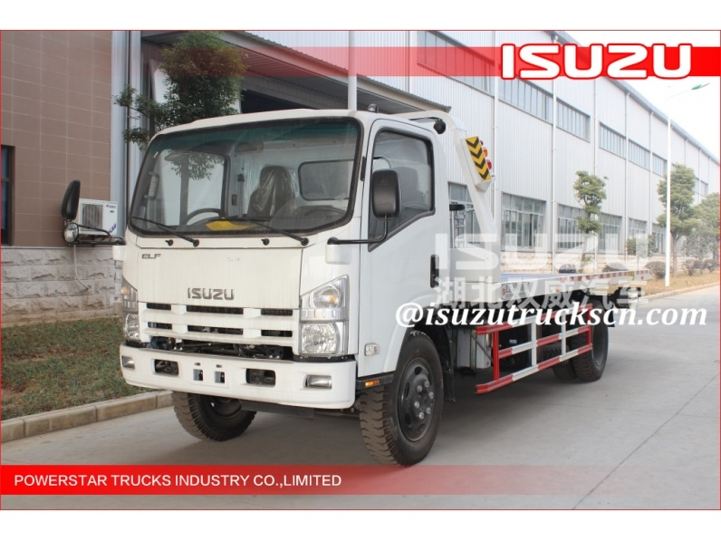 5Tons Isuzu Flatbed Tow Road Wrecker Flatbed Carriers High-quality road wrecker truck for rescuing broken car