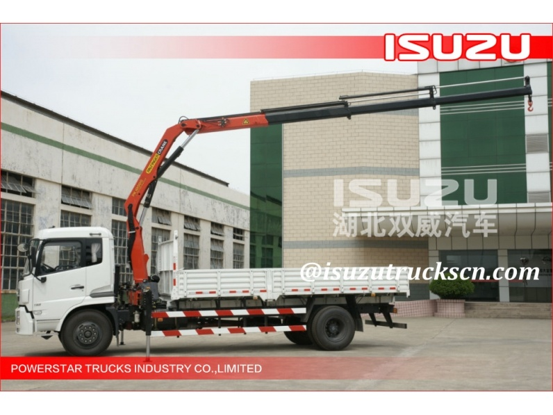 8Ton Japan Isuzu Telescopic Boom Truck Mounted Crane direct sale from factory