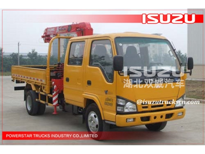 japanese 2.1ton Isuzu Transportation Lorry Mounted Crane