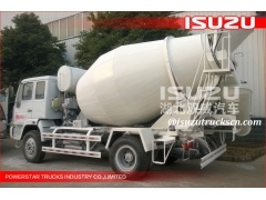 good quality 3cbm 6wheels ELF FTR FVR Isuzu Concrete Truck Mixers