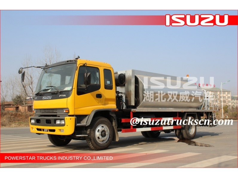 10000L Japanese ISUZU Automatic Bitumen Transportation Tank/Asphalt Tank Truck/Asphalt Transportation Tank for sale