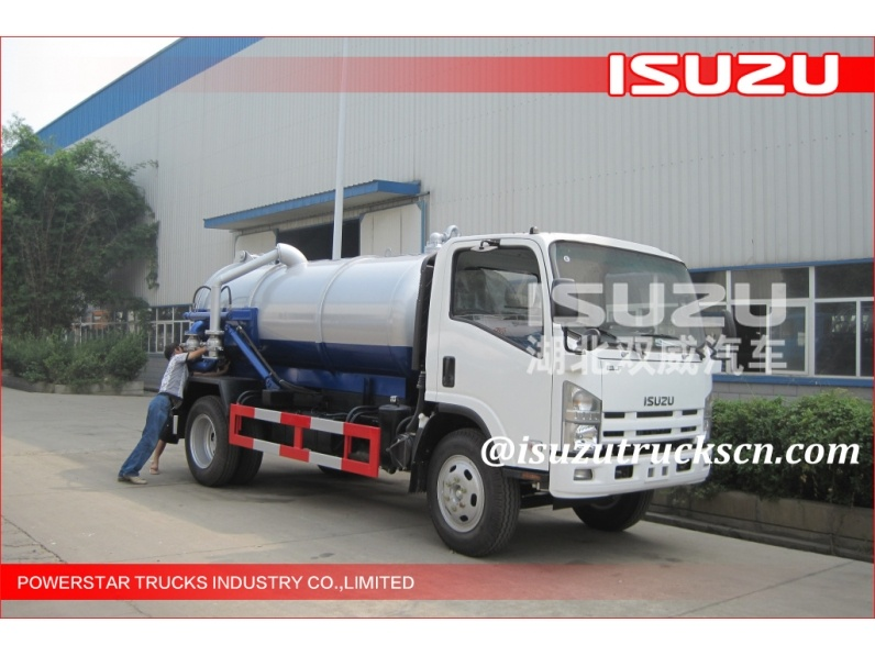 quality 8000Liter ELF 700P Isuzu Septic suction Tanker Trucks supplieers