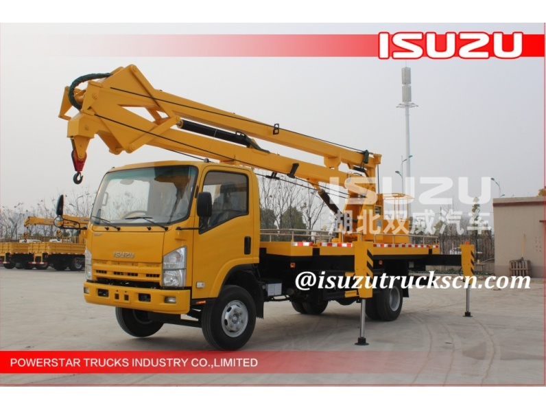 4x2 6wheels 19m Isuzu Aerial work platform truck with working cage manufacturer